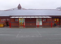 Ysgol Plas Coch County Primary School - Wall Mounted Canopy