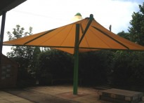 Bishop Tufnell CE Infant School - First Tensile Umbrella Canopy Installation