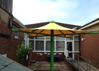 Bishop Tufnell CE Infant School - Second Tensile Umbrella Canopy