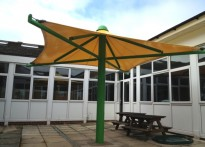 Bishop Tufnell CE Infant School - Third Tensile Umbrella Canopy