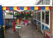 Haversham Village School - Wall Mounted Canopy