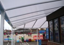 St Mary's Catholic Primary School - Wall Mounted Canopy