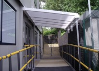 Newcastle College - 1st Wall Mounted Entrance Canopy