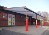 Ysgol Plas Coch County Primary School - Wall Mounted Canopy - Third Installation