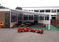 Ashcroft Infant & Nursery School - Wall Mounted Canopy