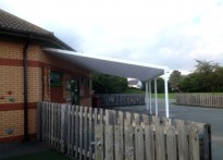 Alexandra Primary School - Two Wall Mounted Canopies