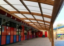 Redriff Primary School - Wall Mounted Timber Canopy