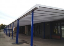 St Michael's C of E Primary School - Wall Mounted Canopy