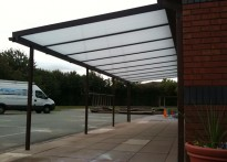 Ysgol Plas Coch County Primary School - Wall Mounted Canopy - Fifth Installation