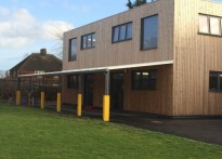 Roding Primary School - 2nd Wall Mounted Canopy