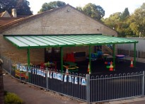 St John's CE VA Primary School - Wall Mounted Canopy