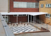 Cardiff High School - Wall Mounted Canopy