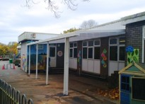 All Saints Church of Wales Primary School - Wall Mounted Canopy