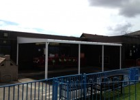 Spotland Primary School - Wall Mounted Canopy