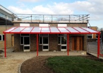Worlingham Middle School - 1st Wall Mounted Canopy
