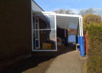 Kibblesworth Primary School - Wall Mounted Canopy
