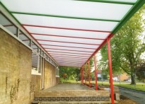 Worlingham Middle School - 2nd Wall Mounted Canopy
