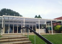 Abbots Hill Primary School - Wall Mounted Canopy