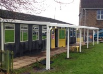 Tan-Y-Lan Primary School - Wall Mounted Canopy