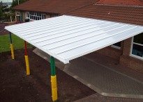 South Street Community Primary School - Wall Mounted Canopy - 2nd Install