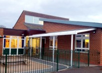 Thorngumbald Primary School - Wall Mounted Canopy