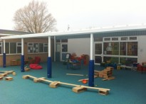 St. Joseph's RC Primary School, Penarth - Wall Mounted Canopy