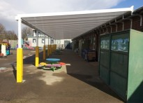 Pinkwell Primary School - 1st Wall Mounted Canopy Installation