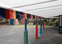 Roe Farm Primary School - Wall Mounted Canopy