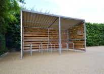 All Saints CE Junior School - 1st Timber Cycle Shelter