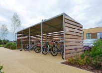 All Saints CE Junior School - 2nd Timber Cycle Shelter