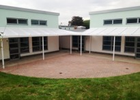St Joseph's RC Primary School, Essex - Wall Mounted Canopy