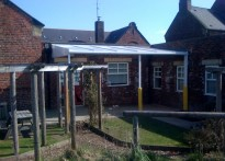 Willington Primary School - Wall Mounted Canopy & Secure Roller Shutters