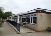 Hartley Primary School - Second Wall Mounted Canopy