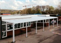 St Vincent De Paul RC Primary School - Wall Mounted Canopy