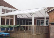 Sandy Lane Primary School - Wall Mounted Canopies