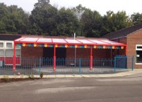 North Ferriby CE Primary School - Wall Mounted Canopy