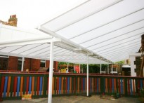 Chadwell Primary School - Wall Mounted and Free Standing Canopy