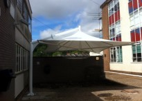 St Cuthbert Mayne School - Tensile Umbrella