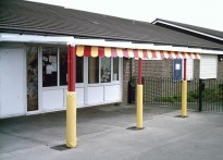 New York Primary School - Wall Mounted Canopy