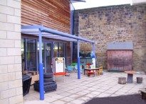 Wallsend Childrens Centre - Wall Mounted Canopy