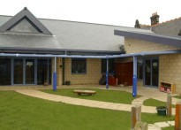Wallsend Childrens Centre - Wall Mounted Canopy - Second Install