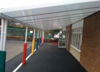 Swindon Village Primary School - Wall Mounted Canopy