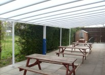 Swindon Village Primary School - Wall Mounted Canopy - 2nd Installation