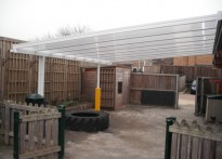 Westleaze Pre-School - Wall Mounted Canopy
