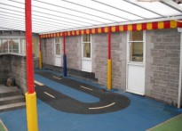 Horrington Primary School - Wall Mounted Canopy