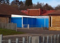 Oakfield Primary School - Wall Mounted Canopy