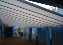 Hafod Primary School - Wall Mounted Canopy