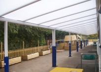 St Michaels First School - Wall Mounted Canopy