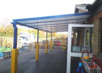 Hillside Primary School - Wall Mounted Canopy