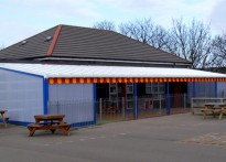St Mary Magdalen RC Primary School - Wall Mounted Canopy